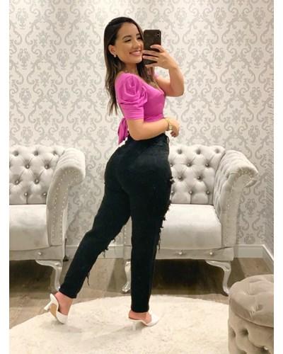 Calça Jeans Preta - MOM